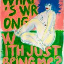 What's wrong with just being me ? 2012  Acrylique et divers sur papier 70x50